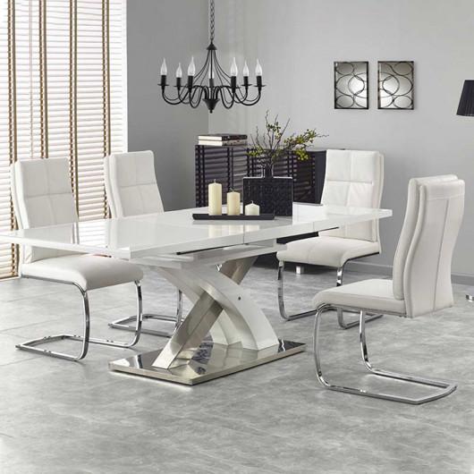 Tavolo allungabile Iride Gihome ® bianco con vetro