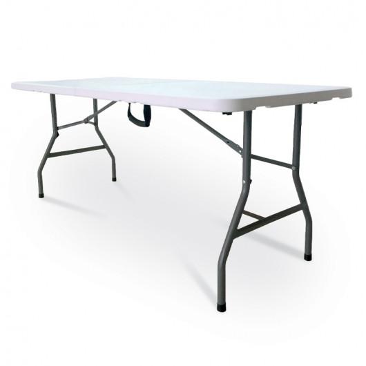 Tavolo richiudibile Raul plastica salvaspazio interno esterno bianco