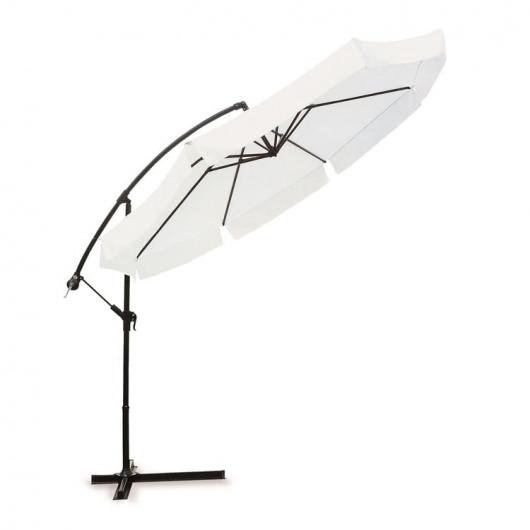 Ombrellone con braccio laterale diametro 3 metri bianco