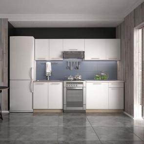 Cucina moderna bianca componibile Urban standard 240 cm
