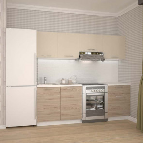 Cucina moderna standard Noemi rovere beige 220 cm