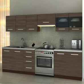 Cucina moderna 260 cm Marika rovere scuro standard