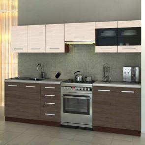 Cucina moderna lineare 260 cm Marika rovere scuro acacia