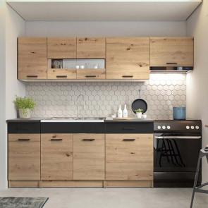Cucina moderna standard Erika grigio rovere 240 cm