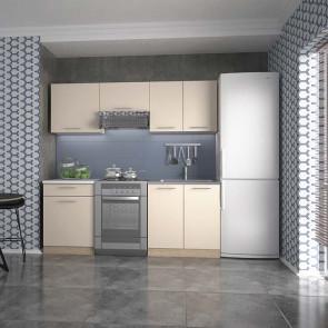 Cucina moderna componibile beige rovere Matrix 200 cm lineare