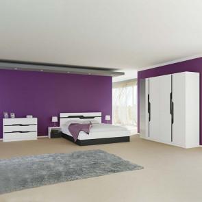 Camera da letto completa matrimoniale Madeira bianco lucido