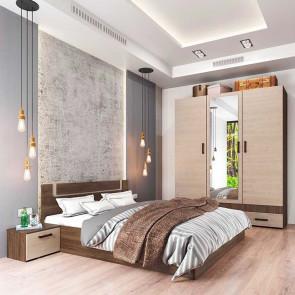 Camera da letto matrimoniale completa Rovigo rovere scuro rovere chiaro