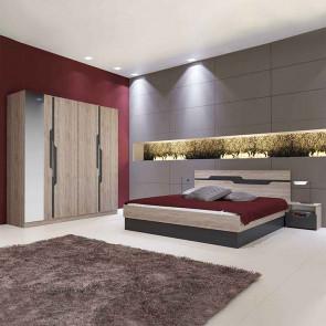 Camera da letto completa Ravenna rovere grafite
