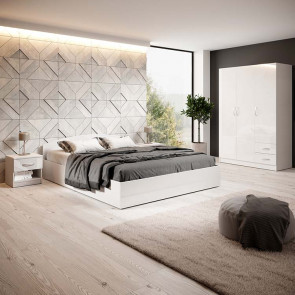 Camera completa Tropea bianco lucido francese