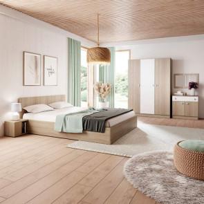 Camera da letto matrimoniale completa Vieste rovere