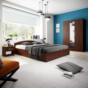 Camera da letto matrimoniale completa Sorrento wengè