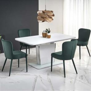 Tavolo allungabile Sanji bianco acciaio bianco