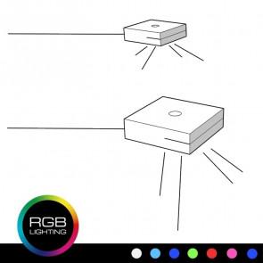 Impianto luce RGB per set 2 comodini 2 cassetti Full