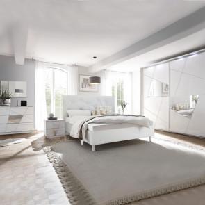 Camera completa Vittoria bianco con serigrafia e specchio