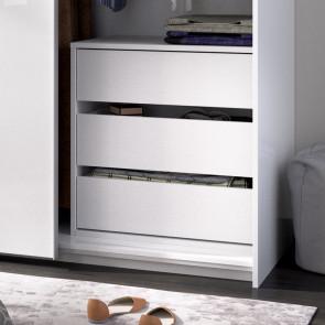 Cassettiera interna 3 cassetti per armadio scorrevole Royal