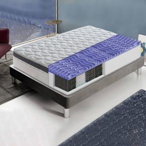Materasso memory Premium molle insacchettate 2 strati 140 x 190 cm 13 zone