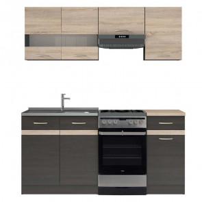 Cucina moderna standard Gaia 1 170 cm wengè rovere lineare