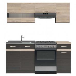 Cucina moderna standard Gaia 1 180 cm wengè rovere lineare