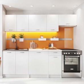Cucina moderna bianca Dalia 240 cm lineare standard