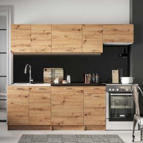 Cucina moderna lineare Dalia 240 cm quercia standard