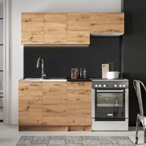 Cucina moderna lineare Dalia 180 cm quercia standard