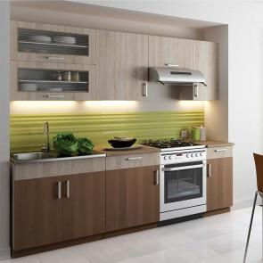 Cucina moderna componibile lineare Clizia 240 cm rovere acacia
