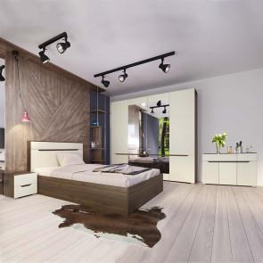 Camera da letto completa Brasilia noce champagne