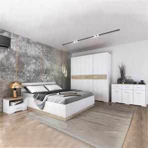 Camera da letto completa Dublino pino bianco rovere sonoma