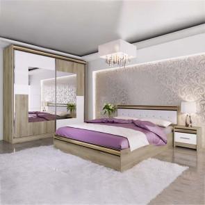 Camera da letto completa Riga rovere sonoma bianco opaco