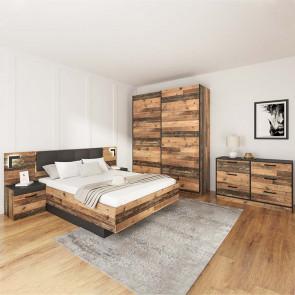 Camera da letto completa Francoforte legno vecchio antico