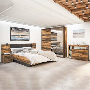 Camera da letto completa Lubiana legno vecchio antico