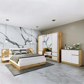 Camera da letto completa Volga quercia bianco opaco
