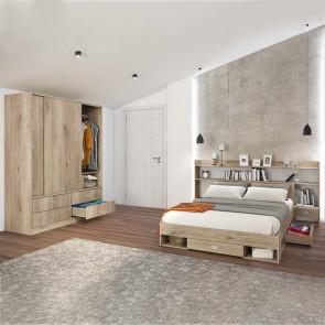 Camera da letto completa Danubio rovere sonoma