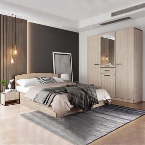Camera da letto completa Kama rovere chiaro
