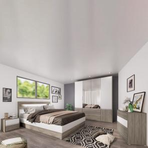 Camera da letto completa Garonna rovere grigio bianco opaco