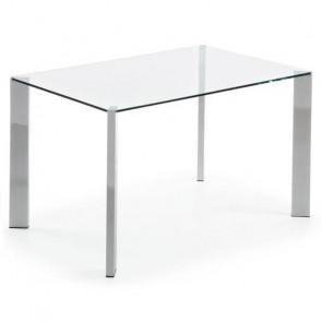 Tavolo vetro e acciaio Spot 140 Gihome ®