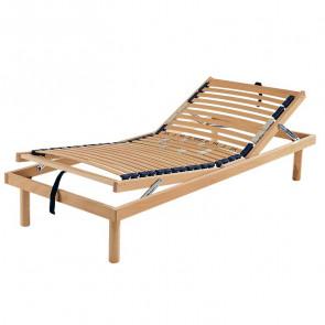 Rete singola in legno Rodi ad alzata manuale 80x190