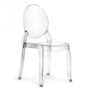 Sedia policarbonato trasparente Elisabeth Gihome ®