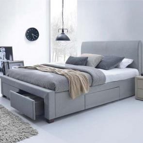 Letto oversize 180 Mestre Gihome ® tessuto grigio con cassetti moderno