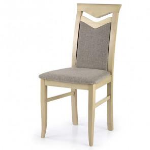 Sedia imbottita Lavanda in legno faggio rovere sanremo tessuto beige classica
