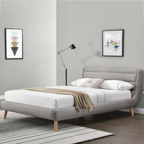 Letto oversize 180 Pompei Gihome ® tessuto grigio chiaro moderno