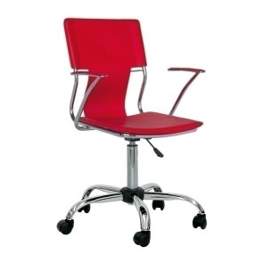 Sedia ufficio Riley rosso