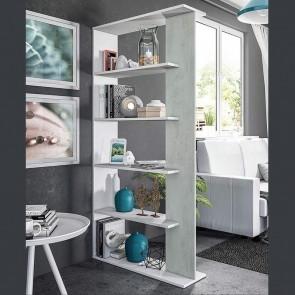 Libreria Agatha bianco cemento
