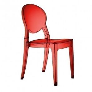 Sedia Igloo Chair Scab policarbonato rosso trasparente