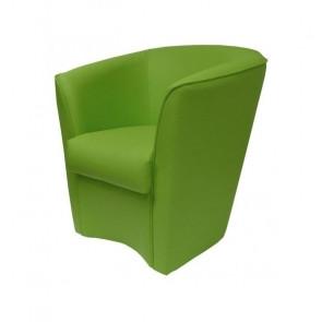Poltrona Valentina Ecopelle verde prato