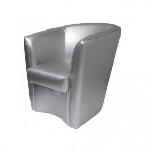 Poltrona Valentina Ecopelle argento