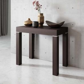 Tavolo consolle allungabile moderno Pandora 110 wengè Gihome ®