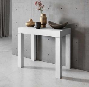 Tavolo consolle allungabile moderno Pandora 110 bianco frassinato Gihome ®