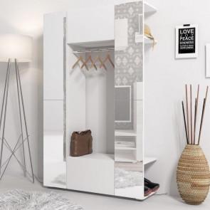 Mobile ingresso Pam Gihome ® bianco e ante a specchio