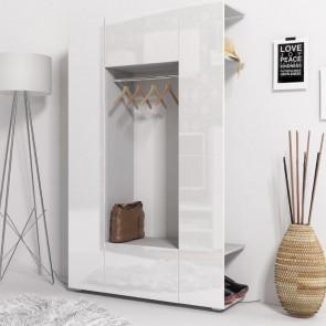 Mobile ingresso Pam Gihome ® grigio e bianco lucido